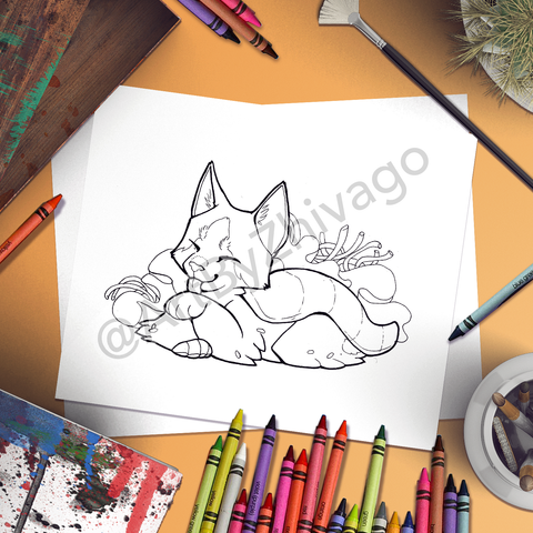 Bobtail Yellowtail Coloring Page (Digital Download)