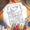 Dragon Heart Sushi Coloring Page (Digital Download)