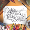 Sashimi Rollin', They Hatin' Sushi Car Coloring Page (Digital Download)