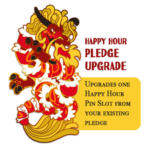 Sushi Tomodachi | *HAPPY HOUR PLEDGE UPGRADE* Red Dragon Roll Hard Enamel Pin