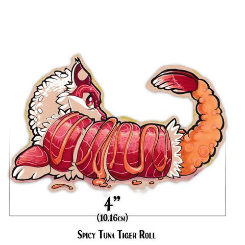 Sushi Tomodachi | Spicy Tuna Tiger Roll Sticker