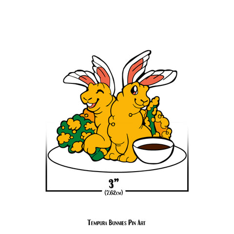 Sushi Tomodachi | Tempura Bunnies Pin Art Sticker