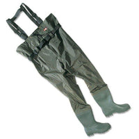 Leeda PVC Chest Waders with Neoprene Lined Boots