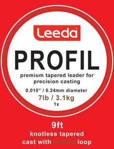 Leeda Profil 9' Tapered Leaders