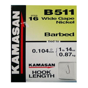Kamasan B511 - Barbed Hooks to Nylon