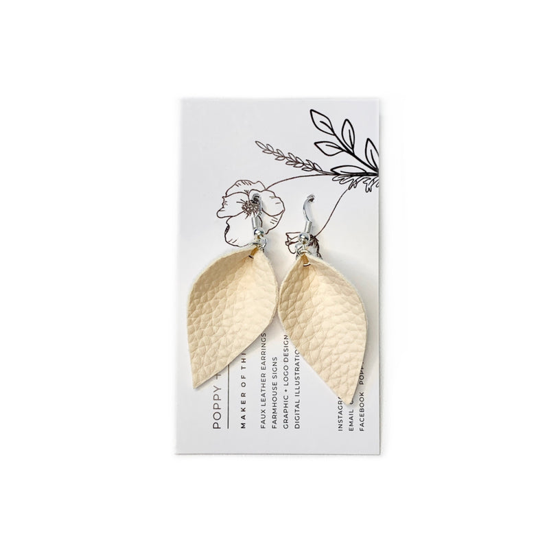 Beige Petal Earrings