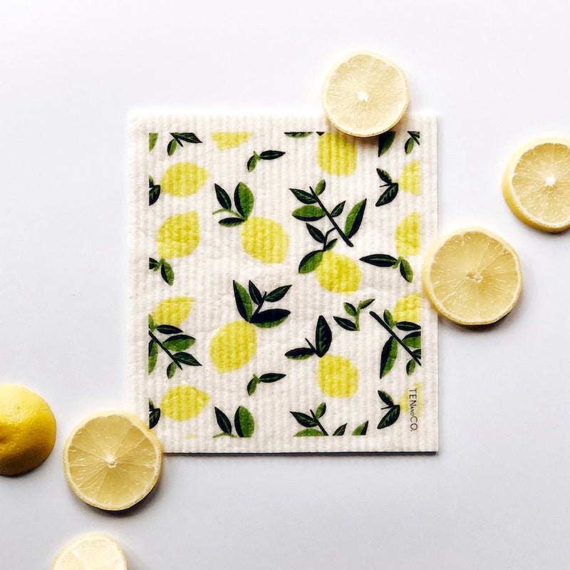 Citrus Lemon Sponge Cloth with Lemons