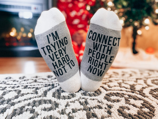 Connect With People Socks