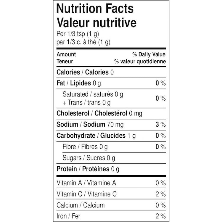 The nutritional facts for Organic Louisiana Fried Chicken