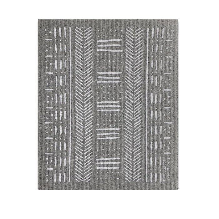 Grey Mudcloth Swedish Sponge Cloth