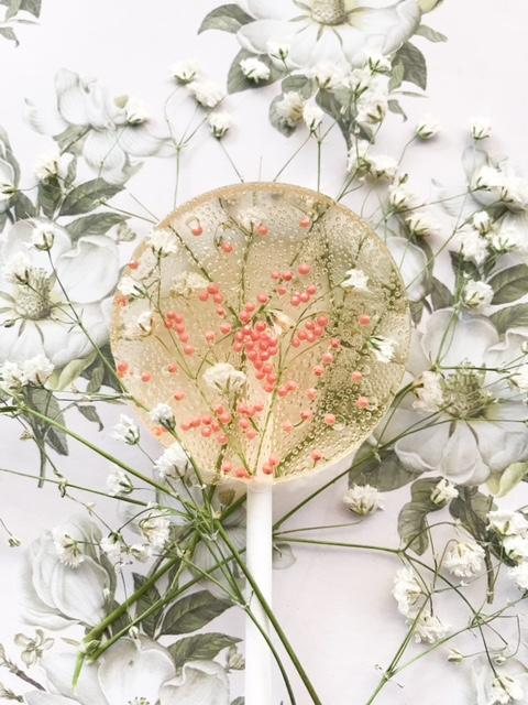 Elderflower & Baby's Breath Lollipop
