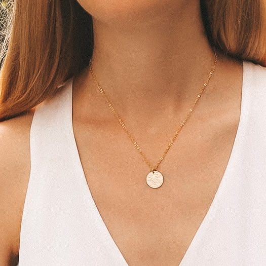 Hammered Gold Necklace