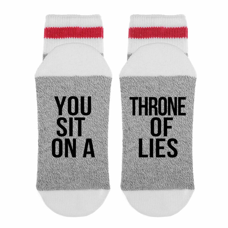 You Sit On a Throne of Lies Socks