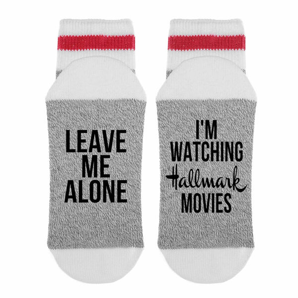 Watching Hallmark Movies Socks
