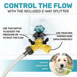 Dog Fountain Water Fountain Dog Sprinkler Step On Dog Sprinkler Toy for Big and Small Dogs For Drinking and Pets Playing And Happiness