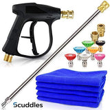 Scuddles | Pressure Washer | Upgraded 2021 Model |Full Car Wash Kit Includes 3 Micro Fiber Towels and Sponge for Detailing Cars Or SUVS | Pressure Washer Wand Extension Mega Set