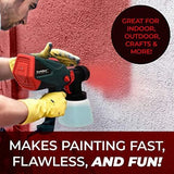 Scuddles Power Paint Sprayer Hvlp Spray Gun for Painting Control Spray Double Duty 1200 Watts