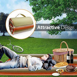 Picnic Outdoor Blanket Park Blanket Beach Mat for Camping on Grass Oversized Seats Adults Water Resistant Picnic Mat (52 X 57)
