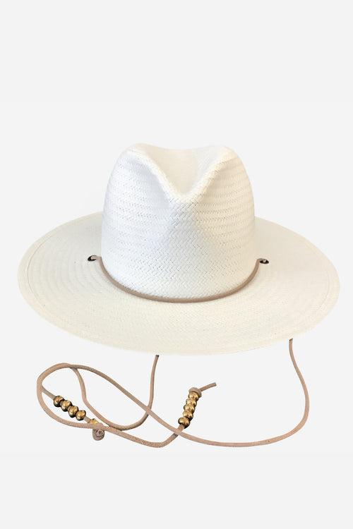 Sedona Straw Fedora in White