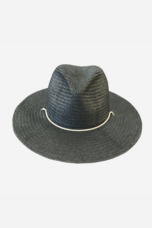 Sedona Straw Fedora in Dark Gray