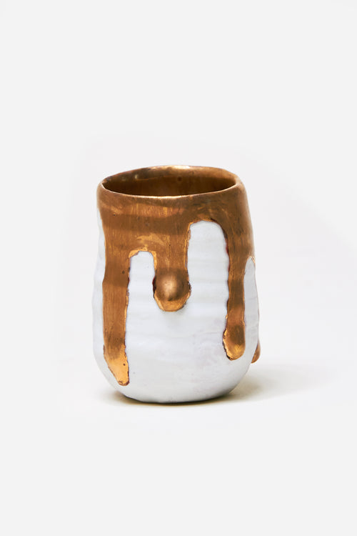 Gold Drip Shot Glass