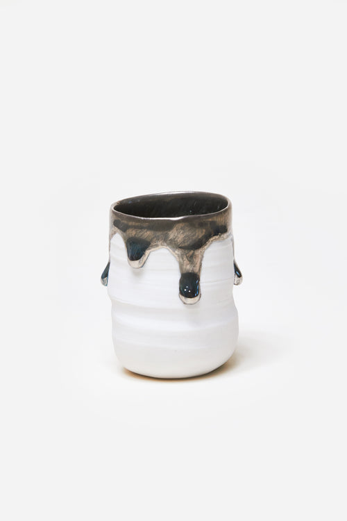 White Gold Drip 6 Shot Glass