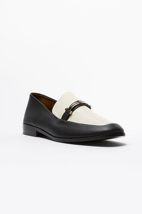 Black & White Melanie Loafer
