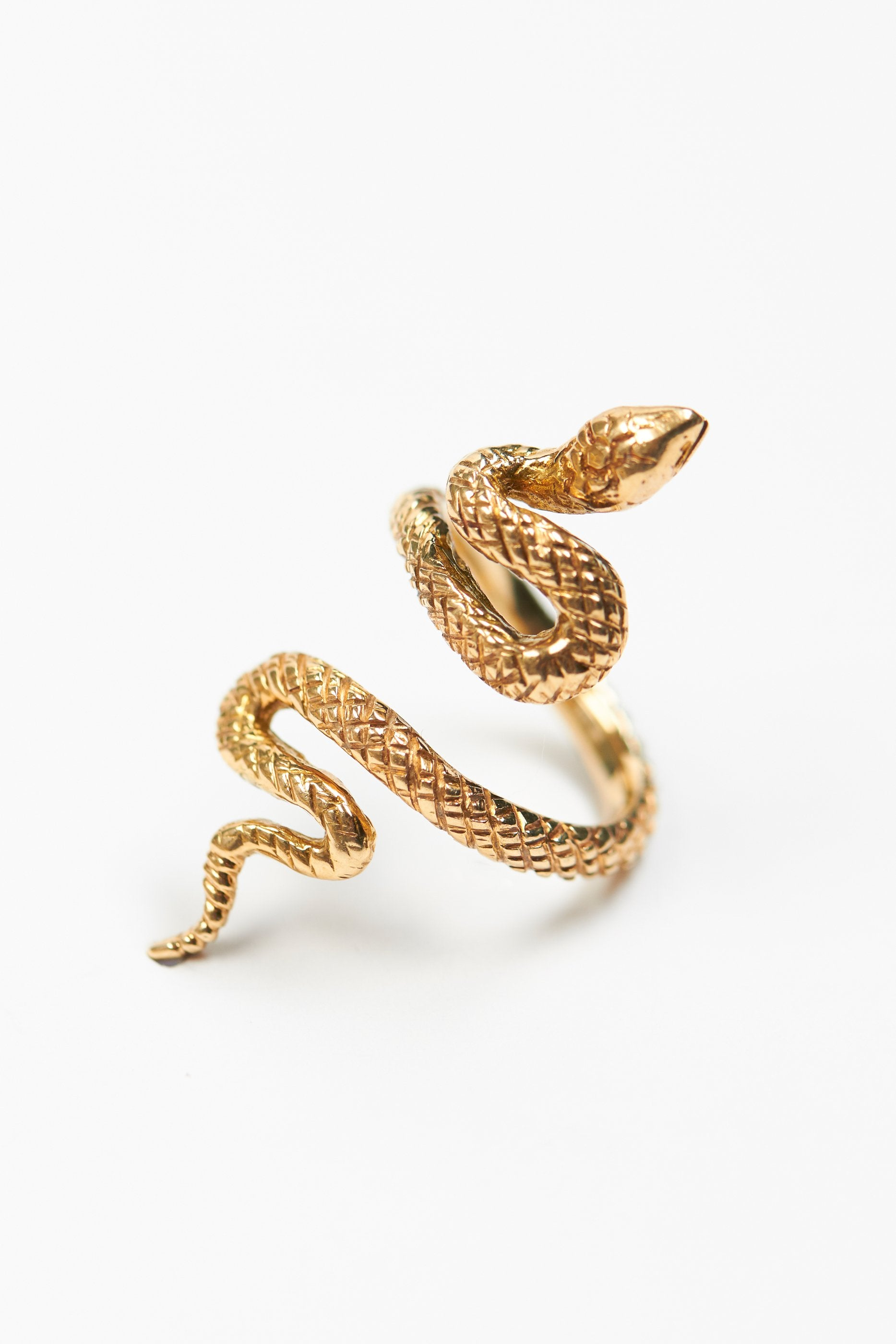 anita ko serpent snake products narrow rings ring