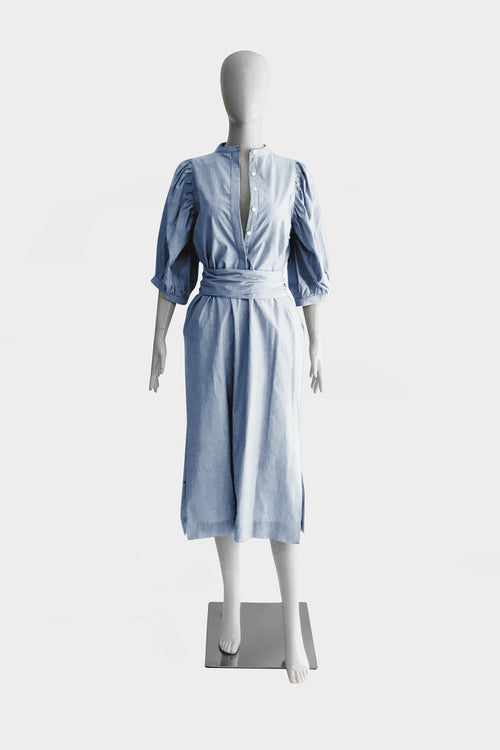 Mason Dress - Blue Stripe