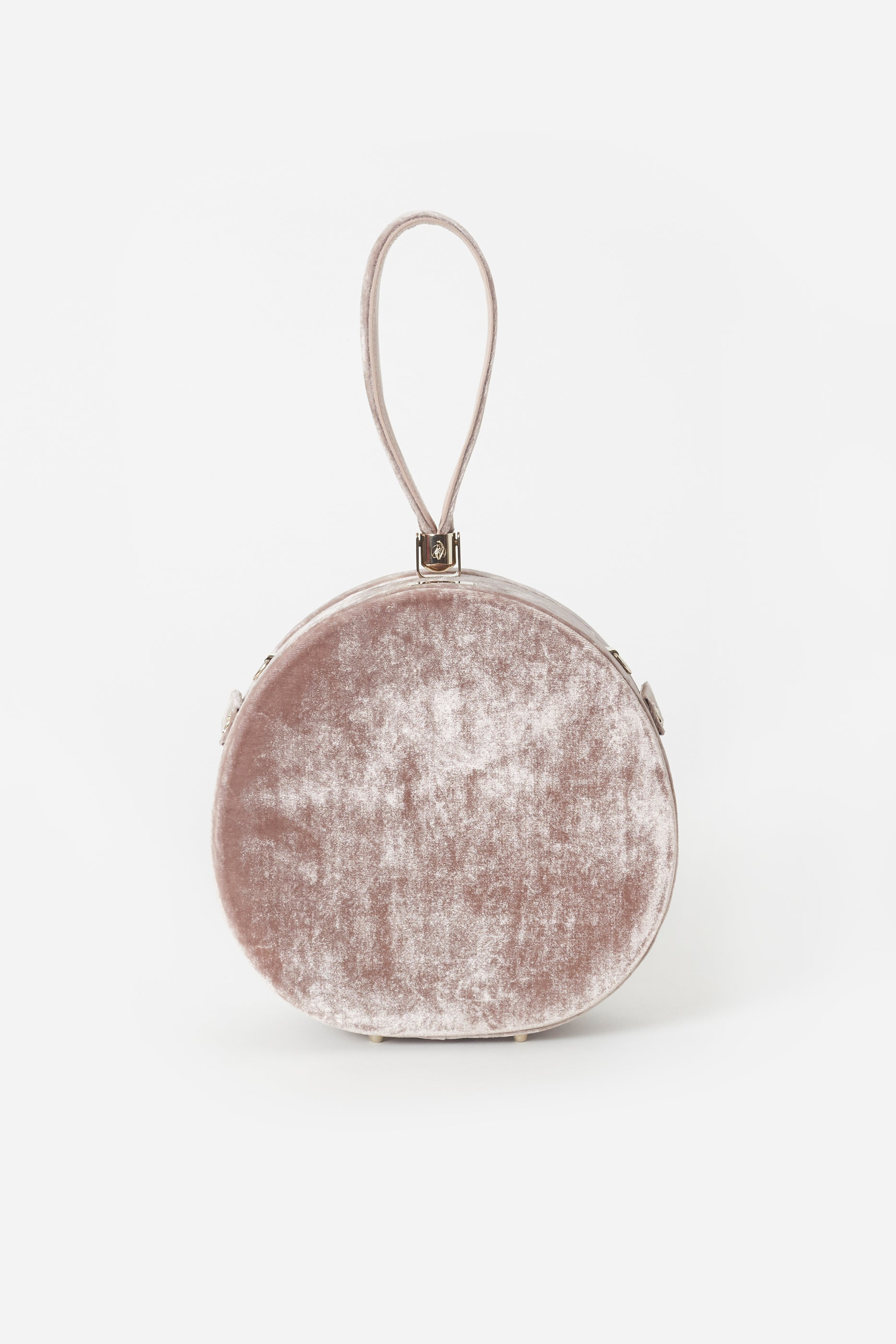 Demi Poppy Round Bag, Blush Velvet