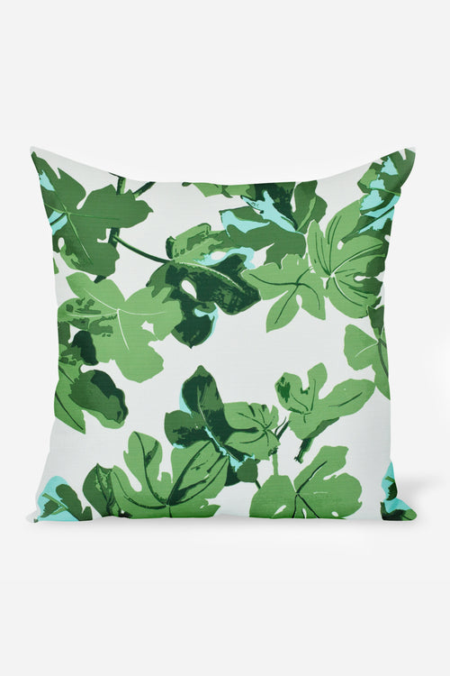 Outdoor Fig Leaf Pillow