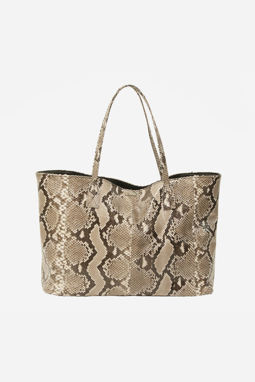 Sydney - Everyday Tote,  Natural Glazed Whipsnake