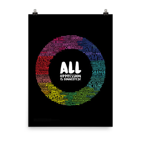 All Oppression is Connected Poster (Black)