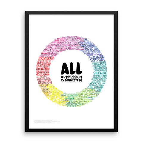 All Oppression is Connected Poster (White, Framed)