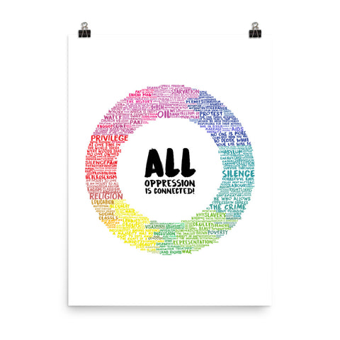All Oppression is Connected Poster (White)