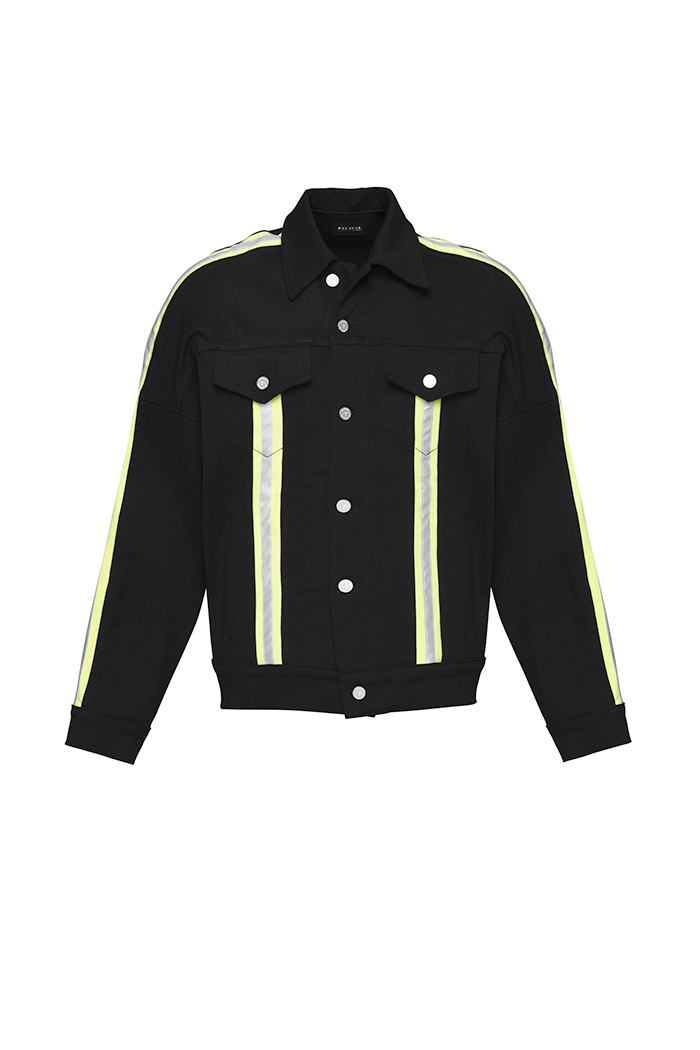Jean Jacket (Black and Highlighter Green)