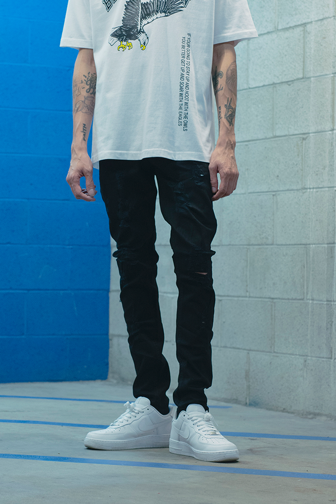 Vacation Drop Crotch Jeans (Black)