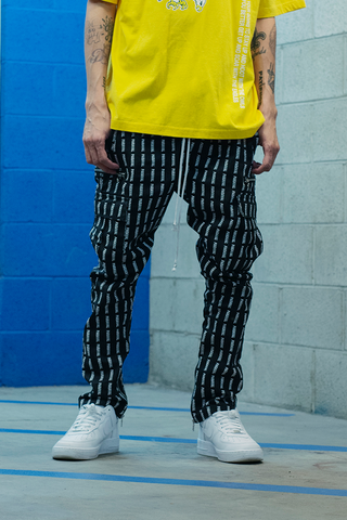 Vacation Plaid Track Pants (Cream And White)
