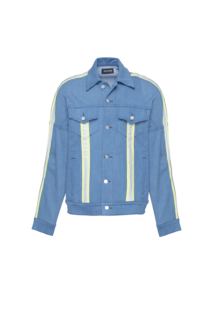 Jean Jacket (Blue and Highlighter Green)