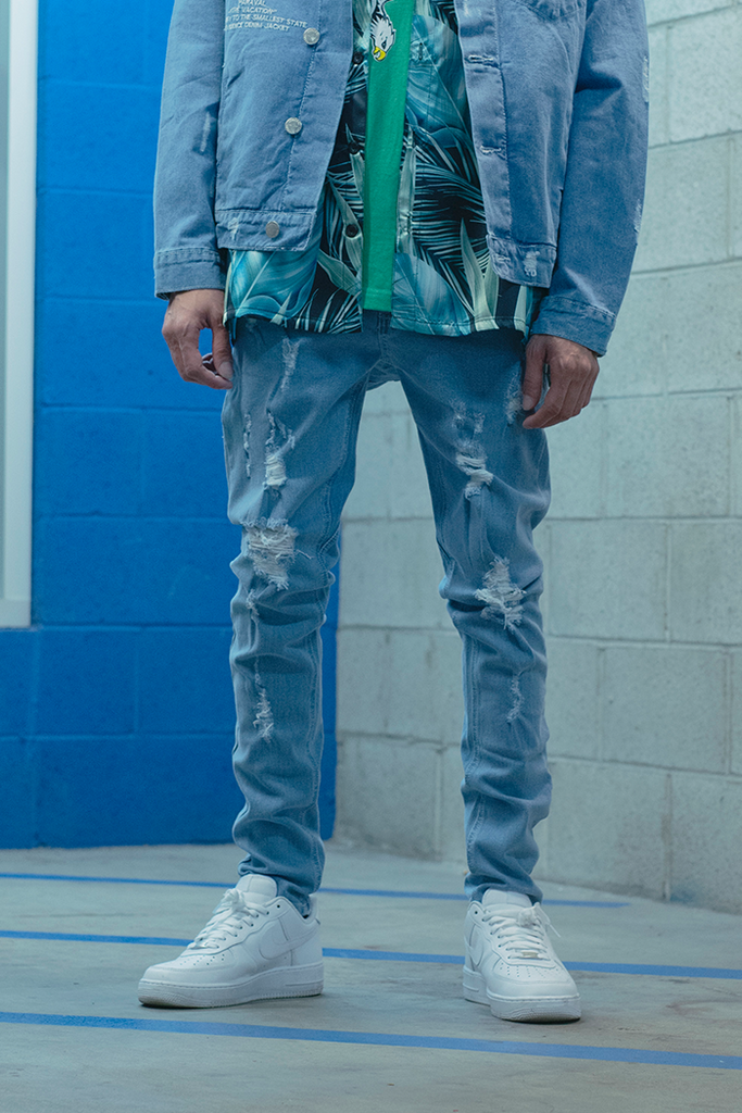 Vacation Drop Crotch Jeans (Blue)