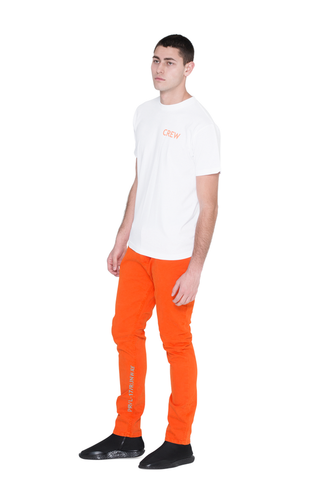 The Denim Straight Leg Jean - Orange