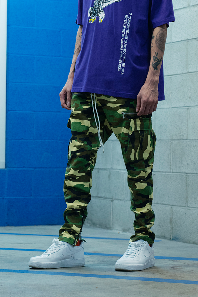 Vacation Collection Cargo Pants (Green)