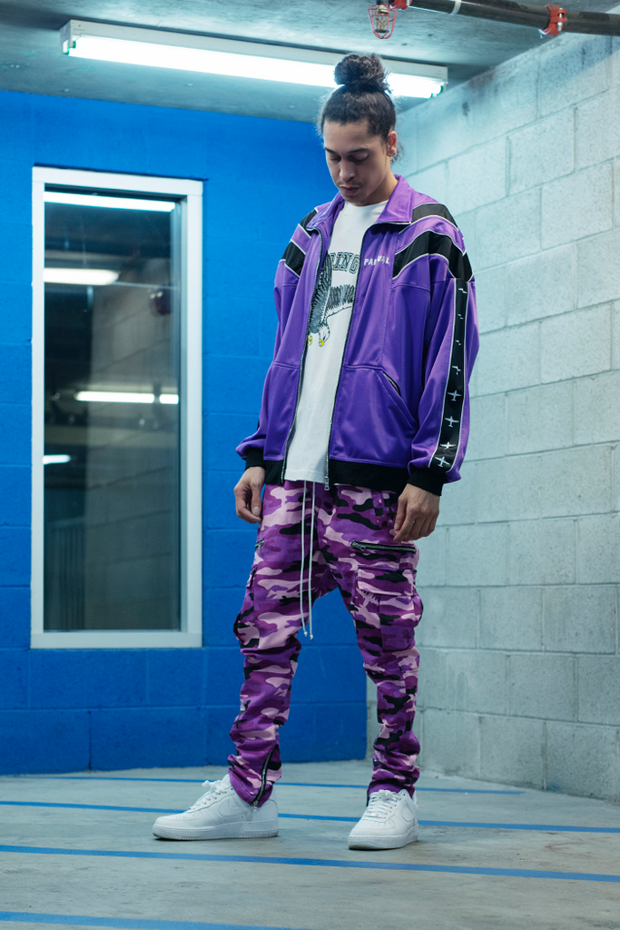 Vacation Track Top (Purple)
