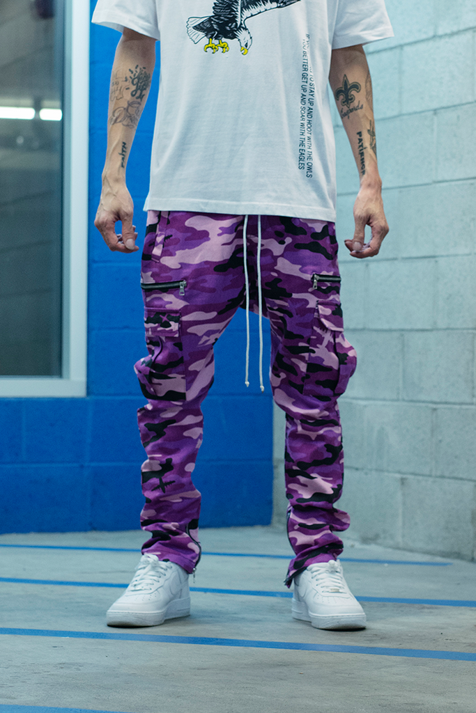Vacation Collection Cargo Pants (Purple)