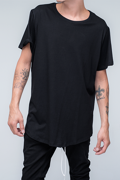 trendy and stylish Oversized T Shirt for men in black color | Zulu - Black Oversized T Shirt