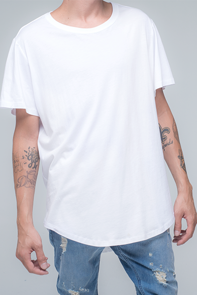trendy and stylish Scallop T-Shirt for men in white color | Scooter - white Pepper Scallop T Shirt