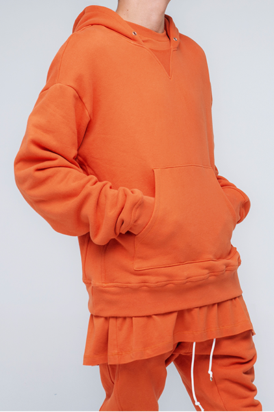 trendy and stylish Sweatshirt Hoodie for men in Orange color | Sierra - Orange Sweatshirt Hoodie