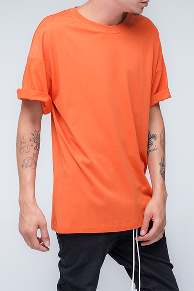 trendy and stylish Oversized T Shirt for men in Orange color | Zulu - Orange Oversized T Shirt