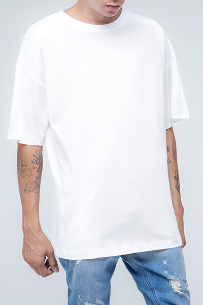 trendy and stylish Oversized T Shirt for men in white color | Zulu - White Oversized T Shirt