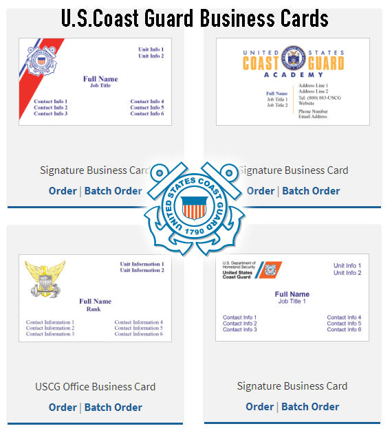Business Cards (U.S. Coast Guard)